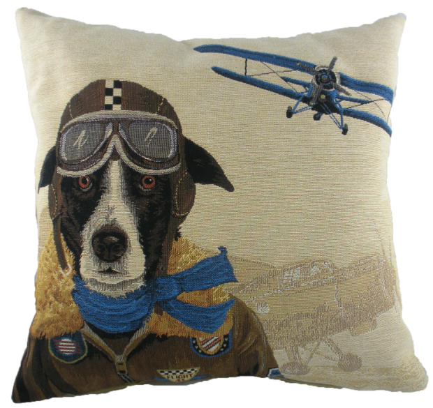 Evans Lichfield Blue Dogfighters Cushion, Cotswold Trading £25.00