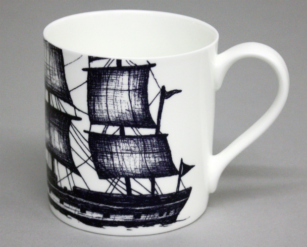 Cream Cornwall Maritime Mug Packet Ship, Gift Wrapped & Gorgeous £10.00