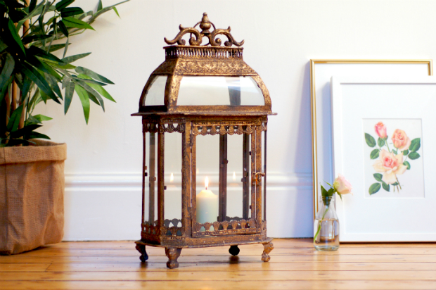Italian vintage style Gold Lantern, Made With Love Designs £79.95