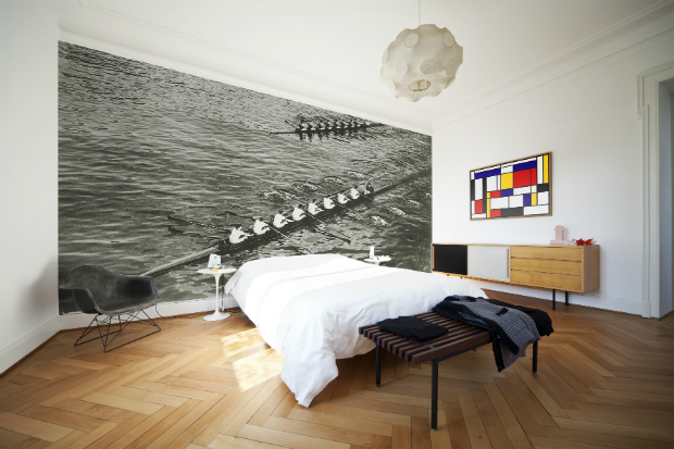 Rowing Wall Mural, Purlfrost