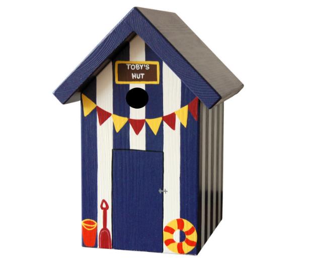 Personalised Beach Hut Bird Box, Swanky Maison £49.00