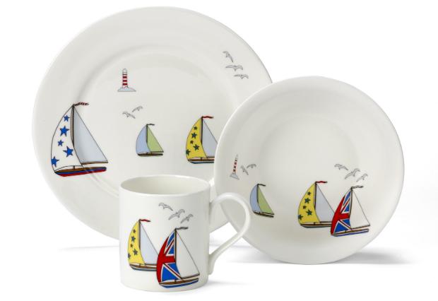 Bone China Yacht Set, White Rabbit England £29.00
