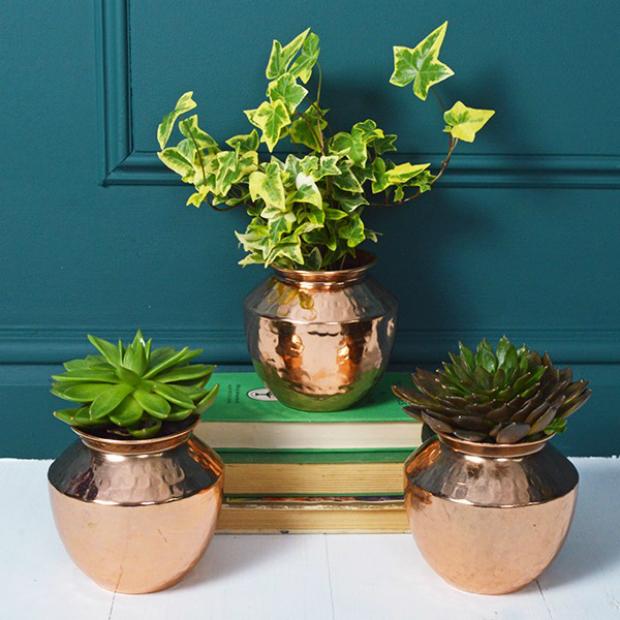 Copper Plant Pot, Mia Fleur £10.95