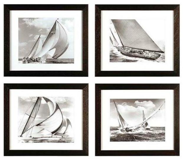 Eichholtz Set of Four Framed Rosenfeld Coll Sailing Ship Prints, Pavilion Broadway £677.00