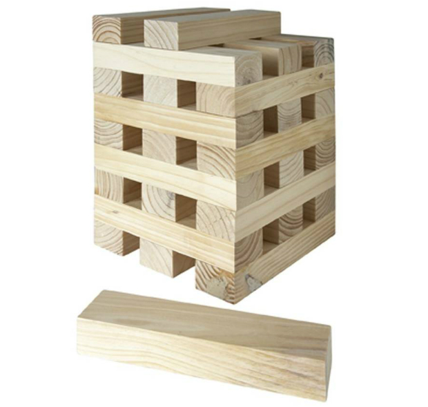 Giant Wooden Tower Garden Game, Not on the High Street £25.00