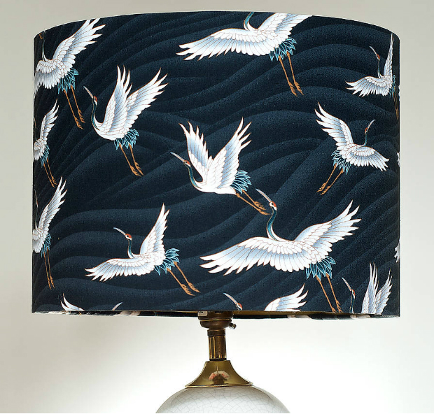 Handmade Japanese Flying Cranes Lampshade, Not on the High Street £34.99