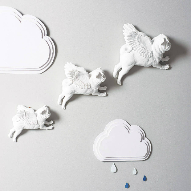 Flying Pugs Wall Art, Not on the High Street £79.99