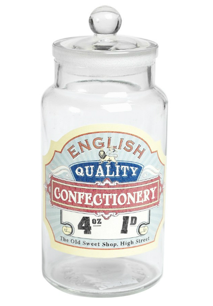 Glass Jar English Confectionery, DotcomGiftShop (Was £6.95) Now £1.95