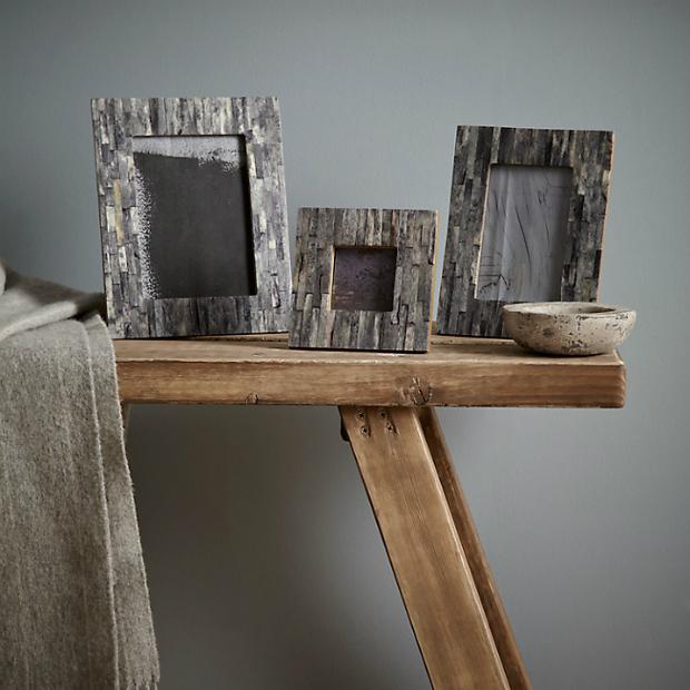 Croft Collection Marble Effect Photo Frame Range, John Lewis £12.00 - £22.00