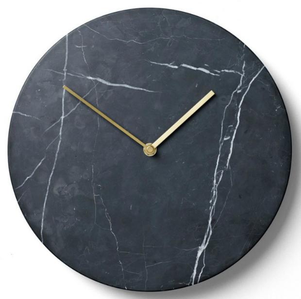 Menu Marble Wall Clock, Black By Design Ltd £219.00