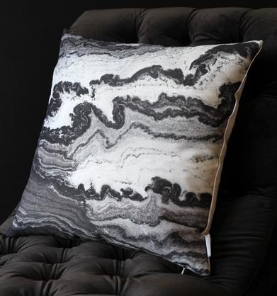 Monochrome Marble Cushion, Rockett St George £45.00