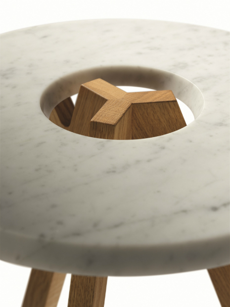TreeO Marble Side Table by Team 7, Wharfside £1,059