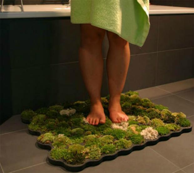 Real Moss Bath Mat, dornob.comReal Moss Bath Mat, dornob.com
