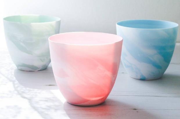 Porcelain Tea Lights, Marble, Not on the High Street £12.00
