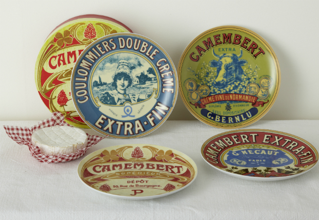 Boxed set of vintage Camembert print plates, rigby & mac £28.95