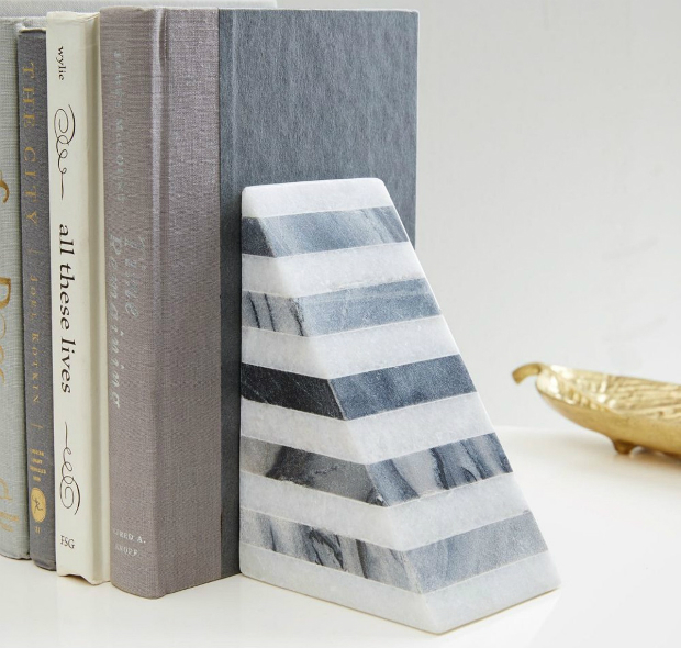 Striped Angle Geometry Bookend, West Elm £34.00