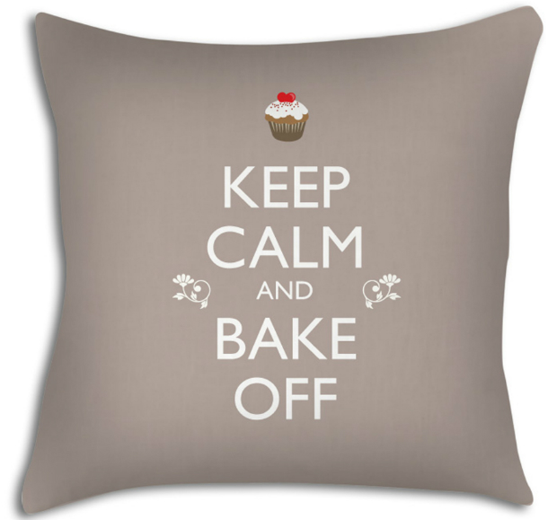 Keep Calm and Bake Off Cushion, Artylicious Home & Gifts £22.00