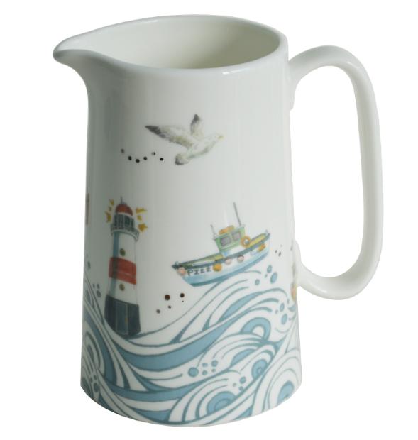 Cornish Coast Pint Jug, Coastal Home £20.00