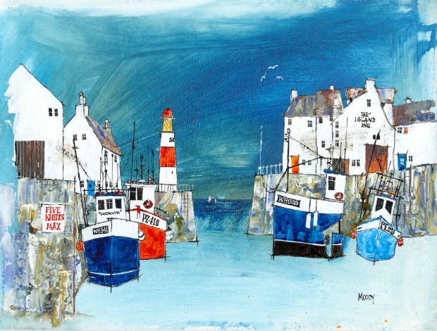 The Island Inn Print, Coastal Home £38.00