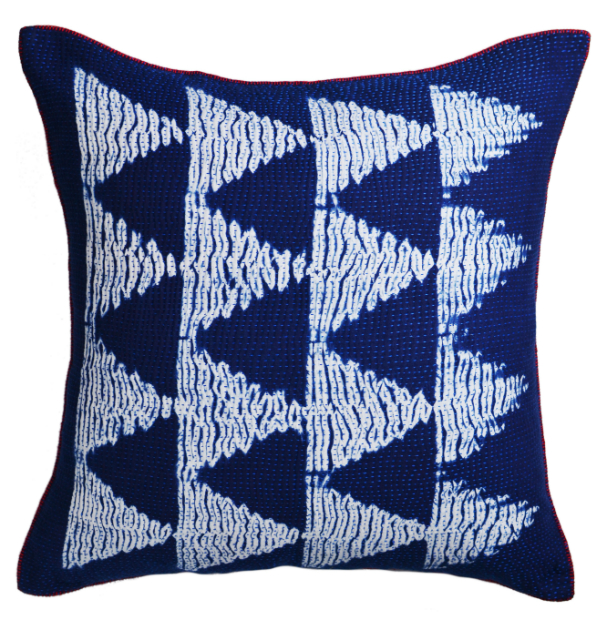 Indigo Shibori cushion, Decorator's Notebook £64.95