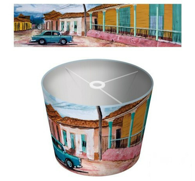 Cuban print lampshade, InSpaces, £69.99