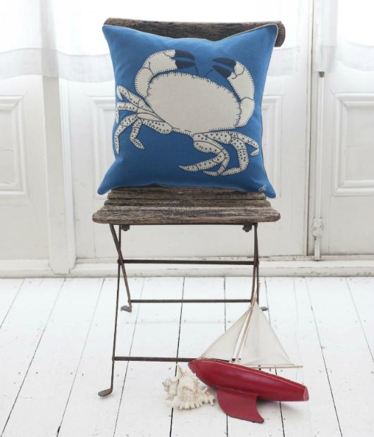 Cobalt Blue Crab Cushion, Jan Constantine £75.00