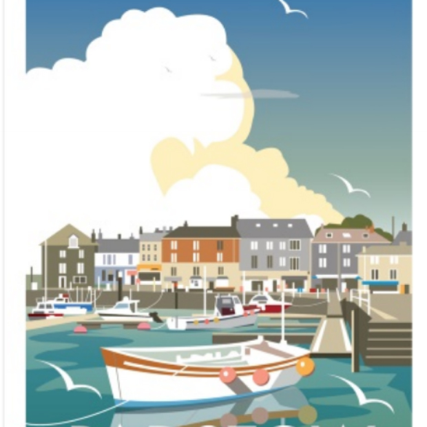Padstow Quay Framed, Whistlefish £65.00