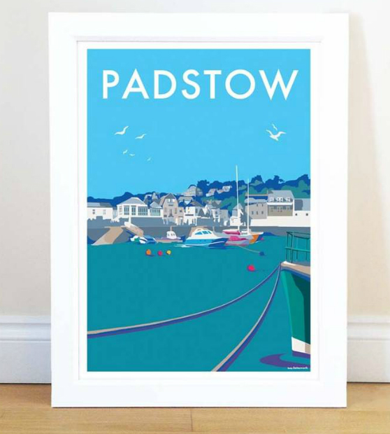 Padstow Vintage Style Seaside Poster, Not on the High Street £15.00