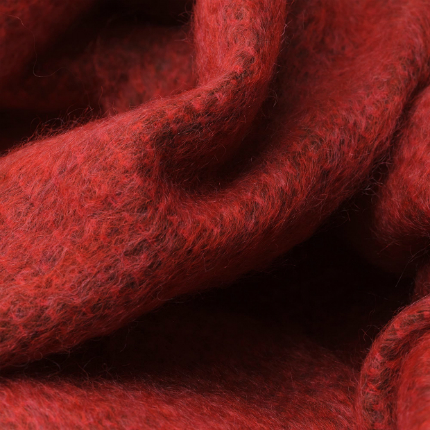 Tudela mohair throw in red, Urbana £84.55