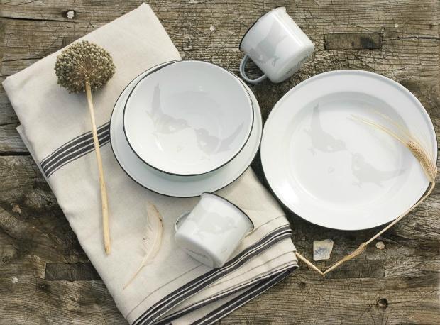 Enamel Dinner Plate, Dassie £17.95