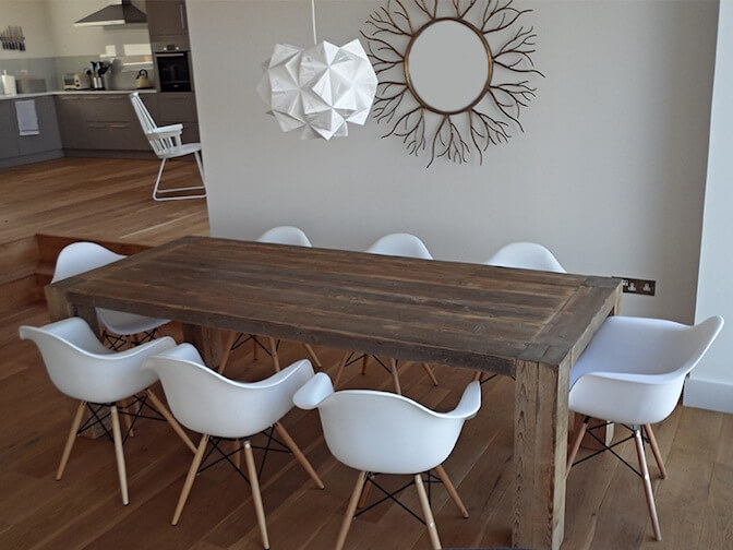 Grand Reclaimed Wood Rustic Dining Table, from £1240,00