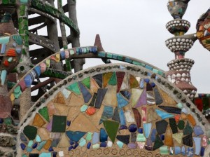 Upcycled Art Watts Tower Detail