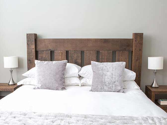 Grand Rustic Reclaimed Wood Bed With Low End, from £990.00