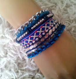 New Hot Magnetic Lucky Money Blue Brazilian Style Braided Bracelet *UK*
