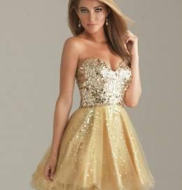 Vestido de Gala Dourado