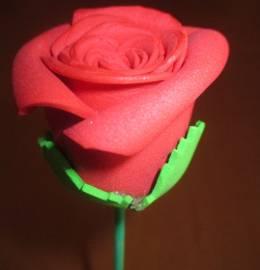 Rosa em papel EVA