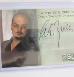 CSI - Cartão Autografado por Anthony E. Zuiker