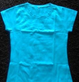 T-Shirt Azul Algodão
