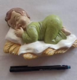 Menino a dormir pintado à mão