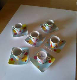 Conjunto de 6 Chávenas de porcelana