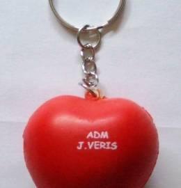 Porta-chaves ADM com coração anti-stress.