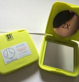 Estojo de bolso com 2 espelhos (normal e 2x)