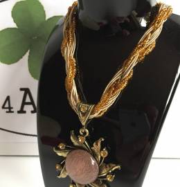 Crystal Rhinestone Necklace Bronze