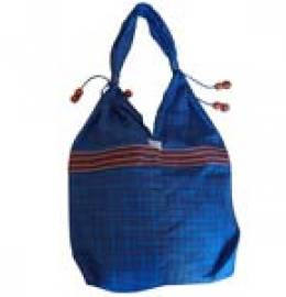 Khadi Tot Bags (Coloured Checks in Blue)