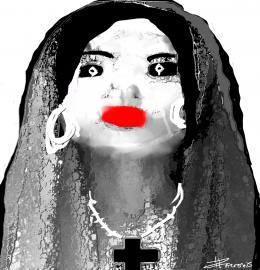 Nossa Senhora da Paz-Tela artística 80x86cm