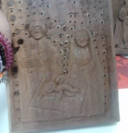 Quadro de madeira - Família