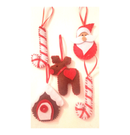 Decorações para árvore de Natal