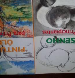 2 Livros: Desenho e pintura a óleo para principiantes