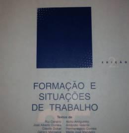 Livro: Formação e situações do trabalho