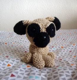 Boneco em crochet - Amigurumi - Pug